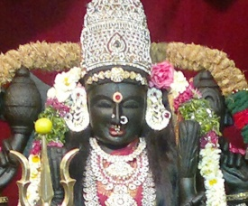 Devi Rajeshwari smiles at Swamiji's Tandava (Divine Dance) during Shivaratri